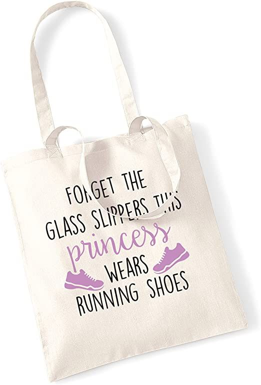 Forget The Glass Slippers This Princess Wears Running Shoes Tote Bag