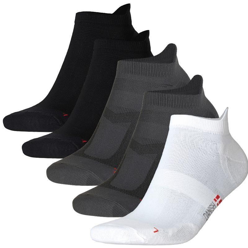 DANISH ENDURANCE Men's Low-Cut Pro Ankle Running Socks (Pack of 5)